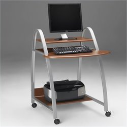 Mayline Eastwinds Wood and Metal Mobile Computer Cart
