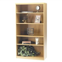 Mayline Aberdeen 5 Shelf Bookcase in Maple