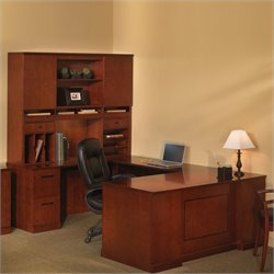Mayline Sorrento Executive U Straight Front Desk with Hutch Set