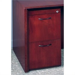 Mayline Corsica 2 Drawer Vertical Wood Filing Pedestal