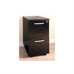 Mayline Corsica 2 Drawer Mobile Vertical Wood Filing Cabinet