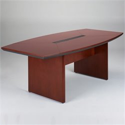 Mayline Corsica Boat Shaped 7' Conference Table with Slab Base