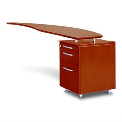 Mayline Napoli Curved Desk Right Return in Sierra Cherry