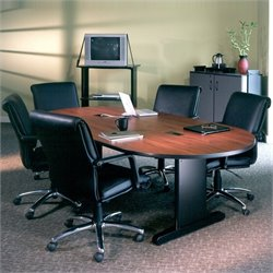 Mayline CSII 8' Racetrack Conference Table with Trestle Base