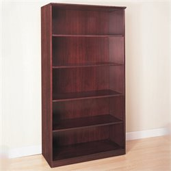 Mayline Corsica 5-Shelf Open Bookcase in Mahogany