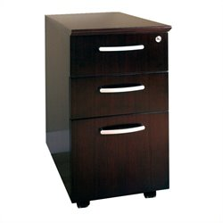 Mayline 3 Drawer Mobile Wood Filing Cabinet