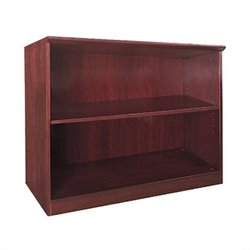 Mayline Corsica Two Shelf Bookcase in Sierra Cherry