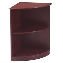 Mayline Corsica 2 Shelf Quarter-Round Bookcase in Sierra Cherry