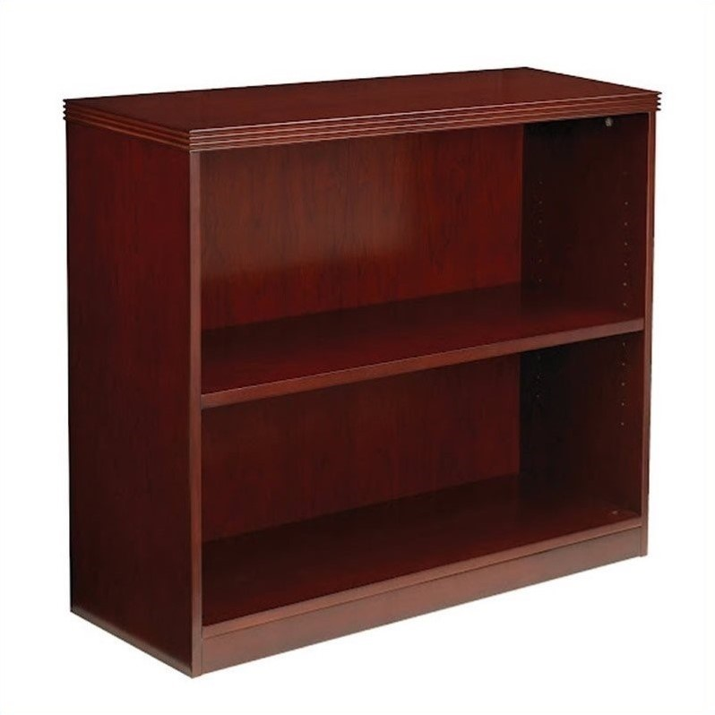 Mayline Luminary 2 Shelf Bookcase in Cherry