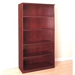 Mayline Corsica 5-Shelf Open Bookcase in Sierra Cherry