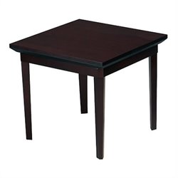 Mayline Corsica Square End Table in Mahagony