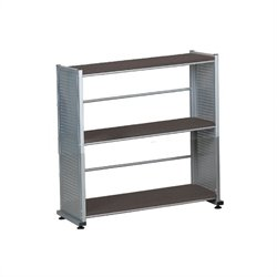 Mayline Eastwinds Bookcase in Black Anthracite
