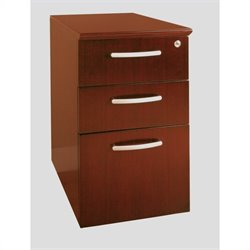 Mayline Napoli 3 Drawer Pedestal File in Sierra Cherry