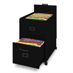Mayline Mobilizer 2 Drawer Mobile Vertical Filing Cabinet in  Black