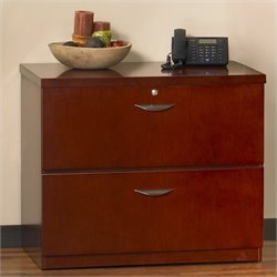 Mayline Mira 2 Drawer Freestanding Lateral File in Medium Cherry