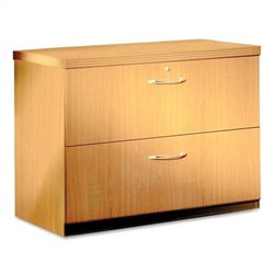 Mayline Aberdeen 2 Drawer Freestanding Lateral Filing Cabinet in Maple