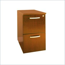 Mayline Napoli 2 Drawer Vertical Wood Filing Cabinet in Golden Cherry