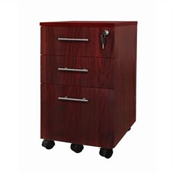 Mayline Medina Pedestal (Box-Box-File) in Mahogany