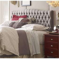 Elle Decor Tufted Panel Headboard in Brown