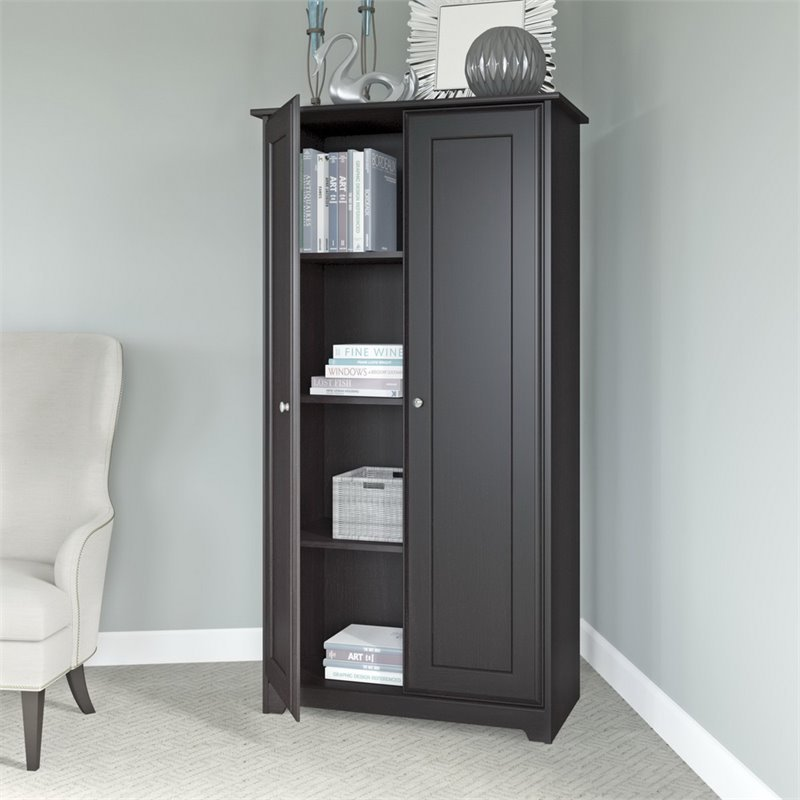 Bush Cabot 2 Door Storage Cabinet In Espresso Oak Wc31897 03
