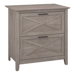 Bush Furniture Key West Lateral File Cabinet in Washed Gray