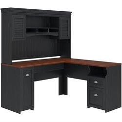 Bush Fairview 2 Piece Office Set in Antique Black