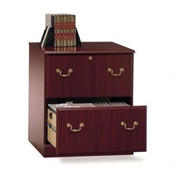 Bush Saratoga Executive 2 Drawer Lateral File Cabinet in Cherry