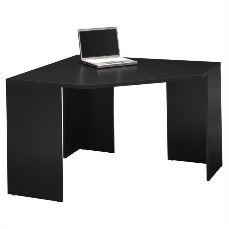 Bush Myspace Stockport Wood Corner Desk In Black My62902 03