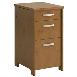 Bush Envoy 3 Drawer File Cabinet in Natural Cherry