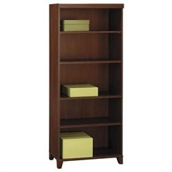 Bush Tuxedo 5-Shelf Bookcase in Hansen Cherry