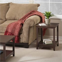 Bush Buena Vista End Table in Madison Cherry Finish (Set of 2)