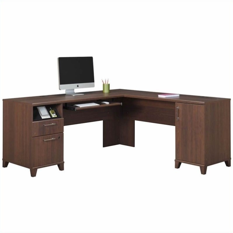 Bush Achieve L Shaped Desk In Sweet Cherry Pr67610k