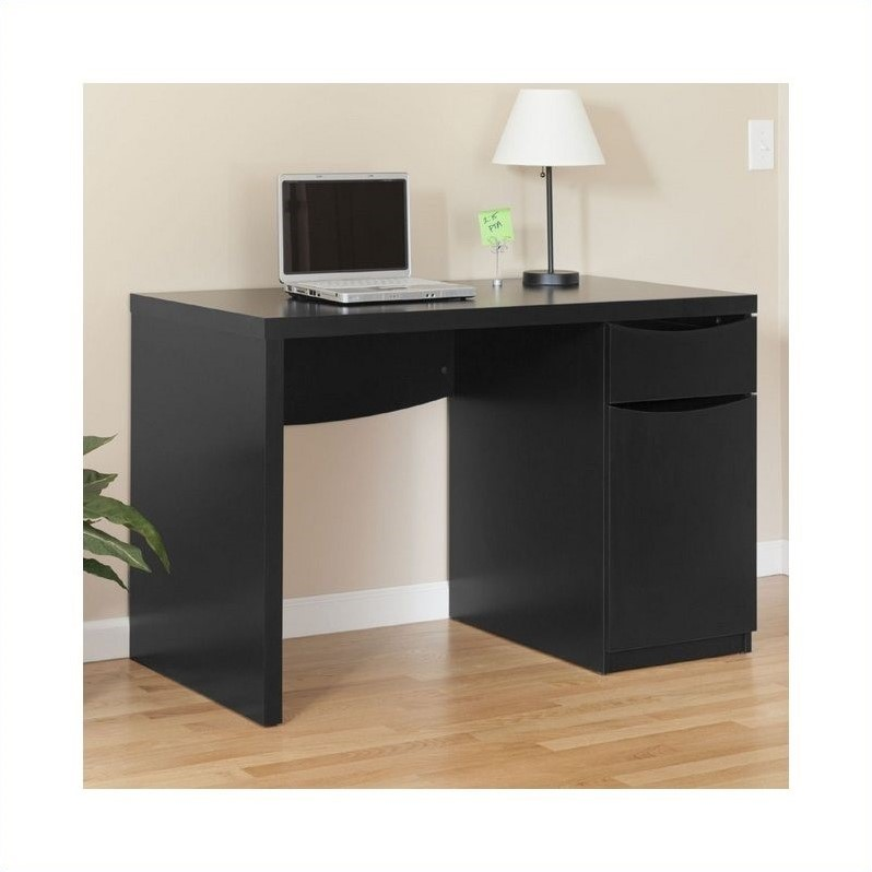 Bush Myspace Montrese Desk In Classic Black My72717 03