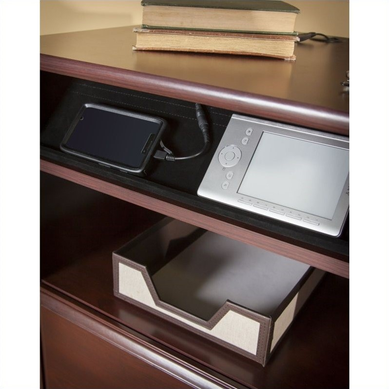 Bush Cabot 60 Quot Corner Computer Desk Set In Harvest Cherry