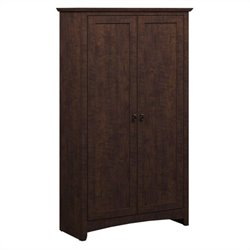 Bush Buena Vista 2 Door Tall Storage Cabinet in Madison Cherry