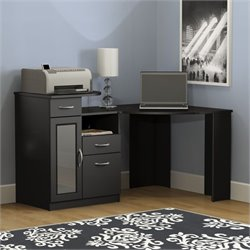 Bush Vantage Corner Home Office Computer Desk in Black