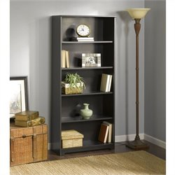 Bush Cabot 5-Shelf Bookcase in Espresso Oak
