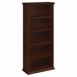 Bush Yorktown 5-Shelf Bookcase in Antique Cherry