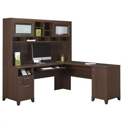 Achieve L Shape Home Office Desk with Hutch