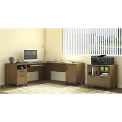 Achieve 2 Piece L Shape Desk Office Set 1