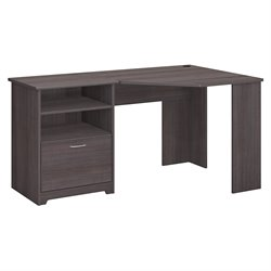 Bush Cabot Corner Desk in Heather Gray