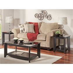 Bush Aero 3 Piece Coffee Table Set in Classic Black