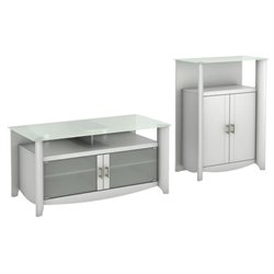 Bush Aero TV Stand with Medium Storage Cabinet