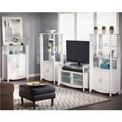 Bush Aero 4 Piece Entertainment Set in Pure White