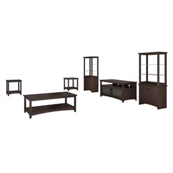 Bush Buena Vista 6 Piece Entertainment Center in Madison Cherry