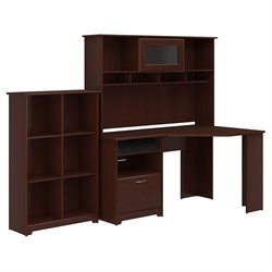Bush Cabot 3 Piece Office Set-Corner Desk, Hutch, Bookcase