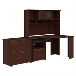 Bush Cabot 3 Piece Office Set-Corner Desk, Hutch, Lateral File