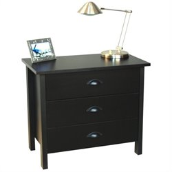 3 Drawer Chest in Black