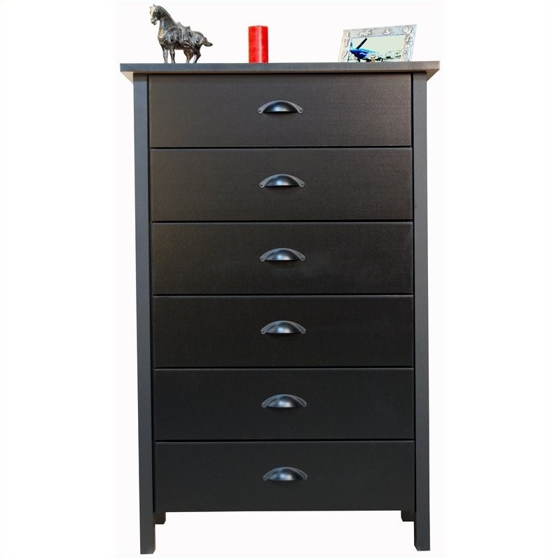 6 Drawer Chest in Black