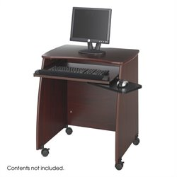 Safco Picco Duo Wood Computer Workstation in Mahogany